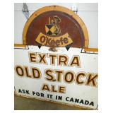 VIEW 2 CLOSEUP EXTRA OLD STOCK ALE SIGN
