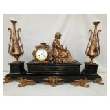 THREASHER QUEEN MARBLE BASE CLOCK
