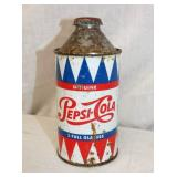 RARE 12OZ TIN PEPSI COLA CAN