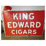 46X69 PORC. KING EDWARD CIGARS SIGN
