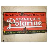 18X36 PORC. POLARINE MOTOR OIL SIGN