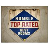 30X30 HUMBLE TOP REST ROOMS SIGN