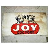 35X65 CLOTH JOY DOG FOOD SIGN