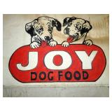 VIEW 2 CLOTH/PAINTED JOY DOG FOOD SIGN