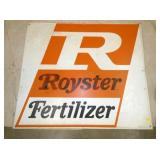 42X48 1979 ROYSTER FERTILIZER SIGN