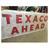 VIEW 2 CLOSEUP TEXACO AHEAD SIGN