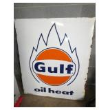 40X47 PORC. GULF HEAT SIGN