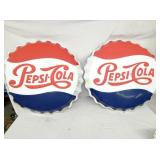 24IN EARLY PEPSI BUTTONS (REPAINTED)