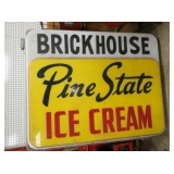 LIGHTED PINE STATE ICE CREAM SIGN