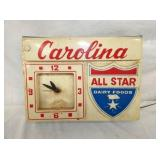 12X16 CAROLINA ALL STAR DAIRY CLOCK