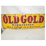 12X36 PORC. OLD GOLD CIGARETTES SIGN