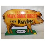 11 1/2X16 PIG MILK BANK BOOST KRAYLETS SIGN