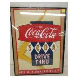 19X27 COCA COLA DRIVE THRU ADV. CLOTH