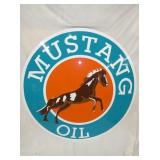 48IN PAINTED REPLICA MUSTANG OIL SIGN