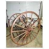 VIEW 2 W/ 52IN WOODEN SPOKE WHEELS