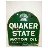 26X29 QUAKER STATE PORC. TOMBSTONE SIGN