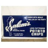 24X48 SALEMS POTATO CHIPS TIN SIGN