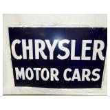 24X36 PORC. CHRYSLER MOTOR CARS SIGN