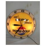 ORIG. PEPSI COLA DOUBLE BUBBLE CLOCK