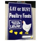 PORC. LAY OR BUST FEEDS SIGN