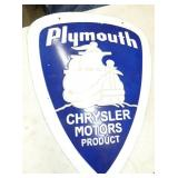 PORC. PLYMOUTH CHRYSLER MOTOR SIGN