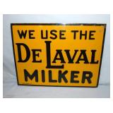 1946 12X16 DE LAVAL MILDER SIGN