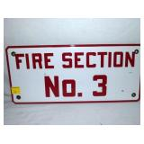 EARLY 8X18 PORC FIRE SECTION SIGN