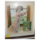 VIEW 2 VARNISHES FRAMED AD