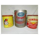 ASSORTED 10-110LB LARD CANS