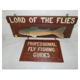 WOODEN LORD OF FLIES TRADE SIGN