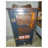 COUNTRY STYLE FRESH EGGS CUPBOARD