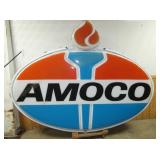 LIGHTED AMOCO SIGN