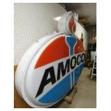 VIEW 3 SIDE VIEW LIGHTED AMOCO SIGN