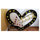VIEW 2 CARNIVAL HEART LIGHTED SIGN