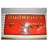 RARE 24X48 BUDWEISER BEER SIGN