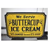 1949 24X36 BUTTERCUP ICE CREAM SIGN