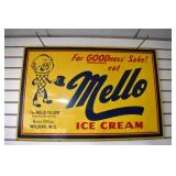 24X36 MELLO ICE CREAM SIGN
