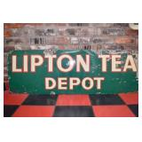 19X54 PORC. LIPTON TEA DEPOT SIGN