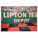 VIEW 2 CLOSEUP PORC. LIPTON TEA SIGN