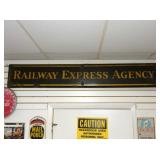 12X72 PORC. RAILWAY EXPRESS AGENCY SIGN