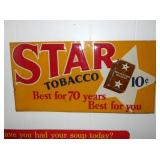 12X24 EMB. STAR TOBACCO 10CENT SIGN