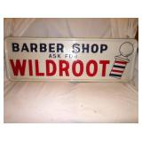 VIEW 2 WILDROOT EMB. BARBER SIGN