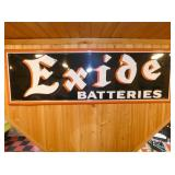 16X48 1952 EXIDE BATTERIES SIGN