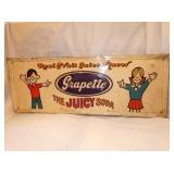 12X31 EMB. GRAPETTE SODA SIGN