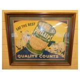 26X34 FRAMED PHILLIPS SOUP SIGN