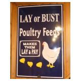 VIEW 2 PORC. LAY OR BUST SIGN