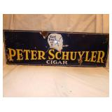 12X36 PORC. PETER SCHUYLER CIGAR SIGN