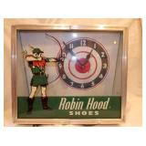 RARE 12X14 ROBIN HOOD SHOES CLOCK