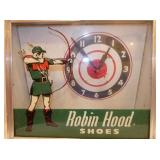 VIEW 2 CLOSEUP ROBIN HOOD SHOES CLOCK