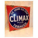 VIEW 2 CLOSEUP CLIMAX TOBACCO SIGN